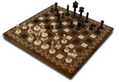 Chess on a white. Royalty Free Stock Photography