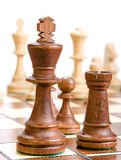 Chess on white. Stock Photography
