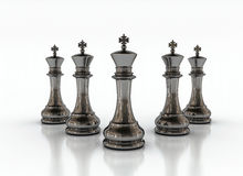 Chess on a white background. Chess kings on a white background Stock Image