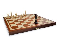 Chess on a white background. Chess isolated on a white background royalty free stock photos