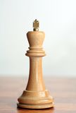 Chess white king Stock Images