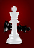 Chess White King - Winner - Vector Stock Photography