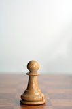 Chess white pawn Royalty Free Stock Photos