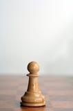 Chess white pawn Royalty Free Stock Photos