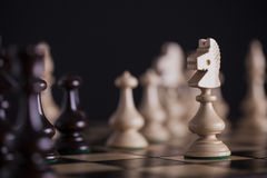 Chess. White pawns vs black Royalty Free Stock Images