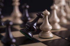 Chess. White pawns vs black Stock Photography