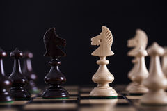 Chess. White pawns vs black Royalty Free Stock Photos