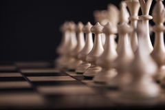 Chess. White pawns vs black Stock Images