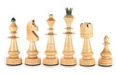 Chess white pieces Royalty Free Stock Photos