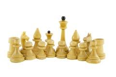 Chess � white team. Isolated on white background Royalty Free Stock Photo