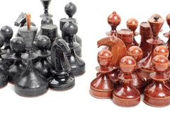Chess on white Stock Photography
