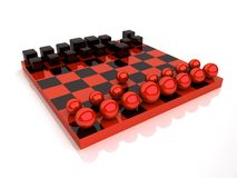 Chess With Spheres And Cubes Stock Photos