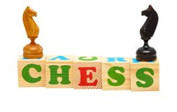 Chess Wooden Blocks Royalty Free Stock Images