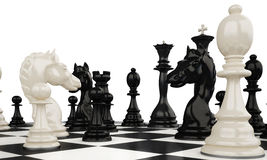 Chess4. Different chess figures on a chess-board Stock Image