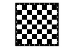 Chessboard. Classical black-and-white chessboard Royalty Free Stock Image