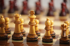 Chessboard. Ready to start the game Royalty Free Stock Images