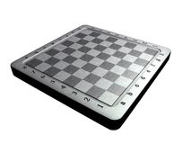 Chessboard. 3D model of chessboard without chess Royalty Free Stock Photos