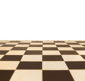 Chessboard. In perspective with a blank area for text Royalty Free Stock Photos