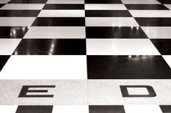 Chessboard. Black and white marble chessboard Stock Photo