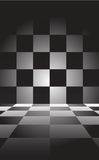 Chessboard. It is black a white chessboard Stock Photography