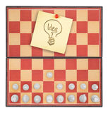 Chessboard as a concept idea. Isolated on a white background Stock Photo