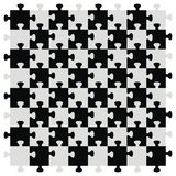 Chessboard as puzzle. Black and gray color. Vector icon Royalty Free Stock Images