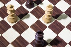 Chessboard composition with chess. Chessboard background composition with chess Stock Images
