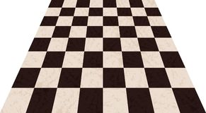 Chessboard background. Empty chess board. Board for chess playing. Vector illustration Royalty Free Stock Photography