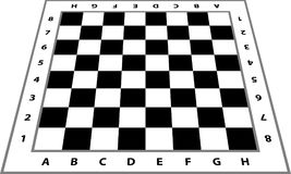 Chessboard background. Empty chess board. Board for chess playing. Vector illustration Stock Photography