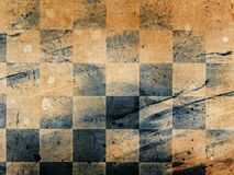 Chessboard background. Grungy dotted chessboard background with stains Royalty Free Stock Photos