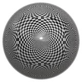 Chessboard ball Stock Photo