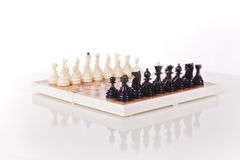 Chessboard on white background Stock Images