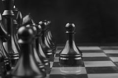 Chessboard. The Chessboard black step first Stock Images