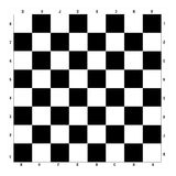 Chessboard black and white Stock Image