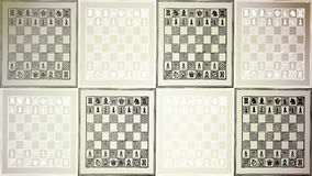 Chessboard of black-and-white Royalty Free Stock Image