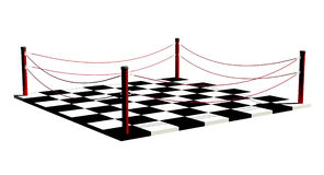 Chessboard boxing. Chessboard as a boxing ring Royalty Free Stock Image