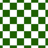 Chessboard or checker board seamless pattern in green and white. Checkered board for chess or checkers game. Strategy royalty free illustration
