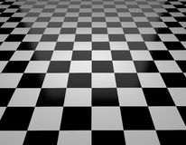 Chessboard and checkered flag Stock Image