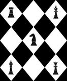 Chessboard with chess Stock Photography