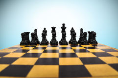 Chessboard with Chess Figure Stock Photography