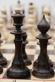 Chessboard with the chess Royalty Free Stock Image