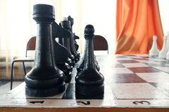 Chessboard with the chess Royalty Free Stock Images