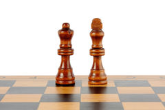 Chessboard and chess. Isolated on white background Royalty Free Stock Photography