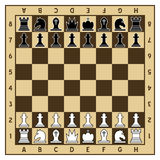Chessboard and Chess Pieces Stock Photos