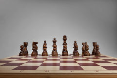 Chessboard with chess pieces. Stock Photography