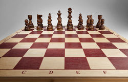 Chessboard with chess pieces. Stock Photo