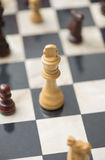 Chessboard with chess pieces Stock Photography