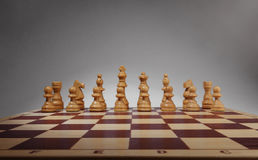 Chessboard with chess pieces. Royalty Free Stock Photography