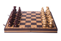 Chessboard chess ready to beattle Royalty Free Stock Photos