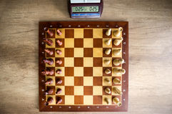Chessboard with chess Stock Image